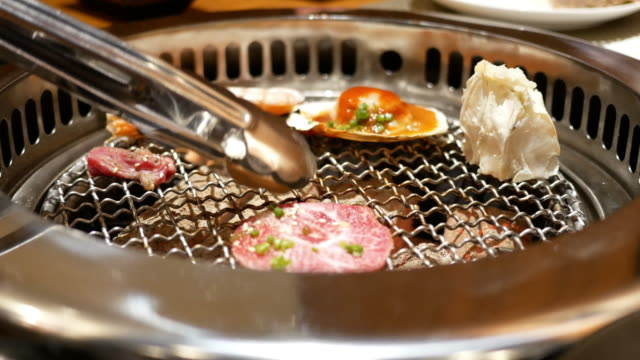 Barbecue grill on the table