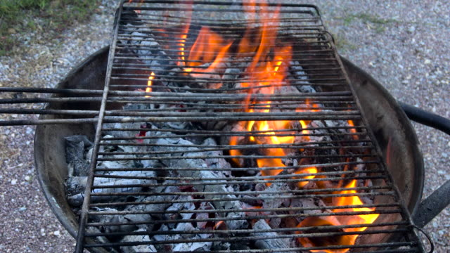barbecue grill - camping stove stock videos and b-roll footage