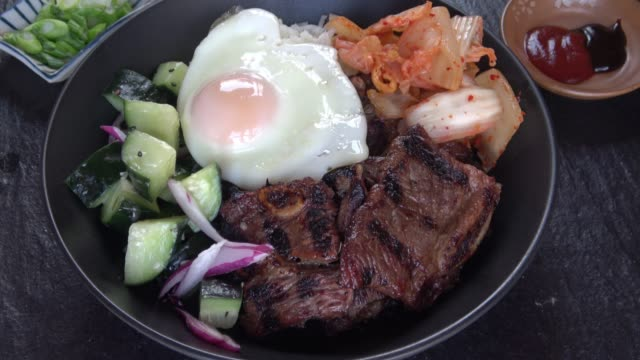 Barbecue Korean short ribs - Bibimbap Bowl