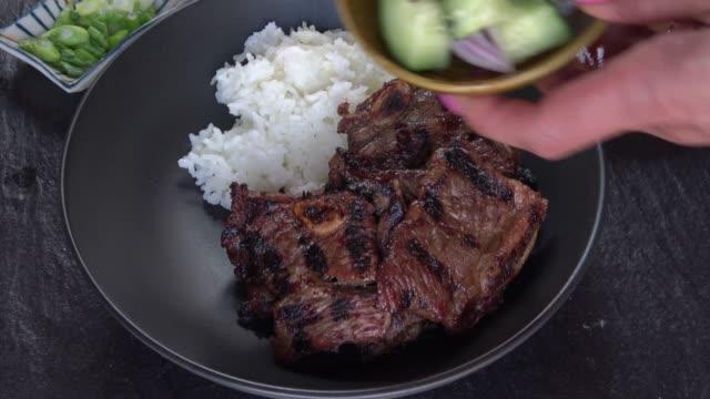Barbecue Korean short ribs - Bibimbap Bowl