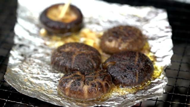 barbecue mushroom - skewer stock videos & royalty-free footage