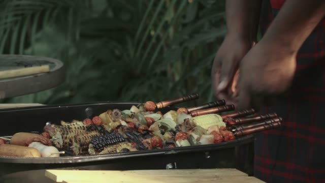 barbecue party in a backyard. - bbq stock videos & royalty-free footage