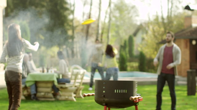 barbecue party - domestic garden stock videos & royalty-free footage