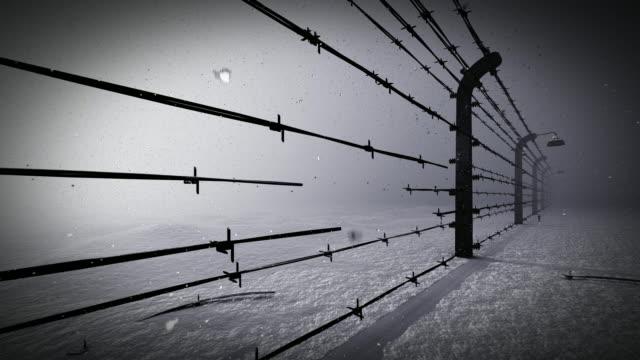 Stacheldrahtzaun des Gefängnisses