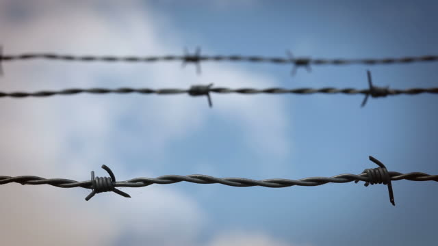 Barbed Wire - time lapse sky