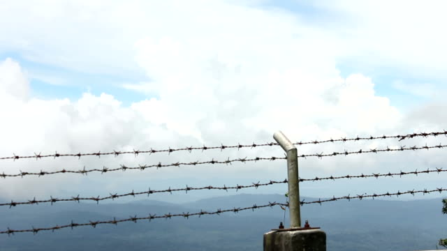 barbed wire - international border stock videos & royalty-free footage