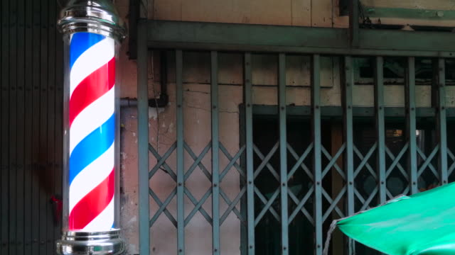 barber shop neon shot by smart phone - razor stock videos & royalty-free footage