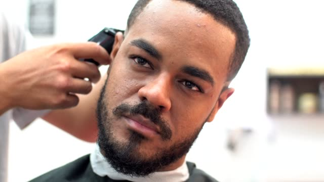 barber shop - afro hairstyle stock videos & royalty-free footage