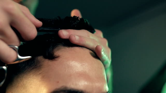 barber shop - forehead stock videos and b-roll footage