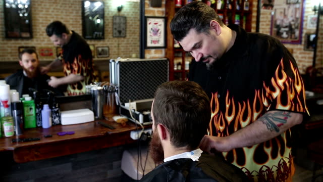 barber shop - barber chair stock videos & royalty-free footage