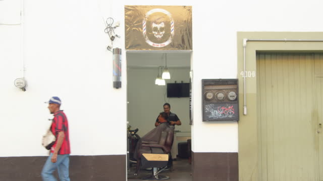 barbershop at oaxaca, mexico - banner sign stock videos & royalty-free footage