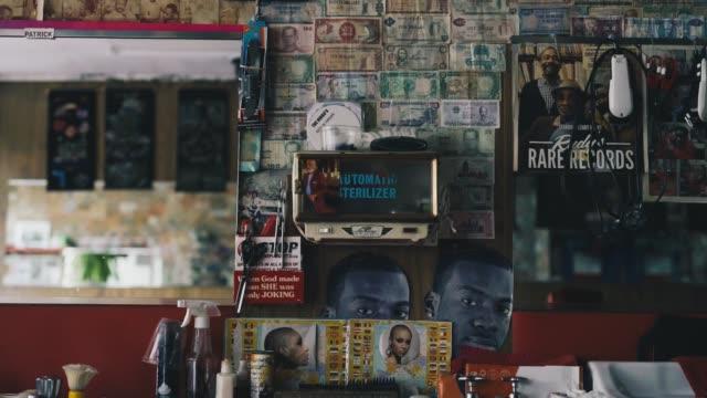 barbershop decor - shears stock videos & royalty-free footage