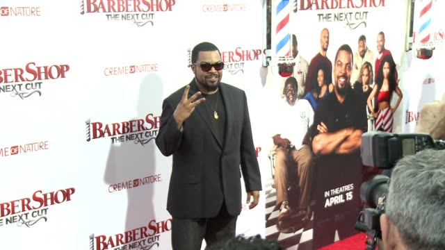 stockvideo's en b-roll-footage met edit barbershop the next cut los angeles premiere at tcl chinese theatre on april 06 2016 in hollywood california - tcl chinese theatre