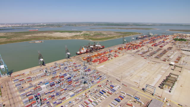 ms aerial barbours cut terminal / houston, texas, united states - docks stock videos & royalty-free footage