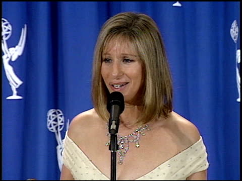 barbra streisand at the 1995 emmy awards press room at the pasadena civic auditorium in pasadena california on september 10 1995 - pasadena civic auditorium stock videos & royalty-free footage