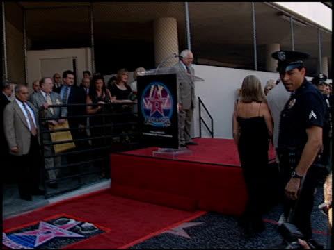 stockvideo's en b-roll-footage met barbra streisand at the dedication of james brolin's hollywood walk of fame star at 7018 hollywood blvd in los angeles, california on august 27, 1998. - barbra streisand