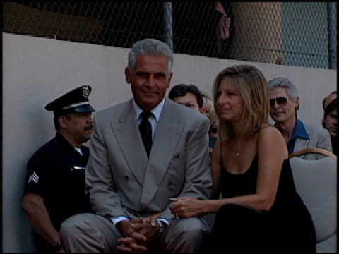 barbra streisand at the dedication of james brolin's hollywood walk of fame star at 7018 hollywood blvd in los angeles, california on august 27, 1998. - james brolin stock videos & royalty-free footage