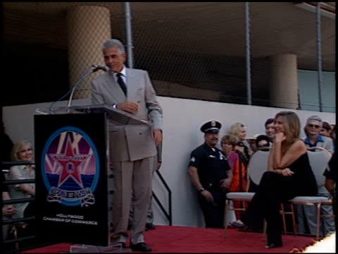 stockvideo's en b-roll-footage met barbra streisand at the dedication of james brolin's hollywood walk of fame star at 7018 hollywood blvd in los angeles, california on august 27, 1998. - james brolin