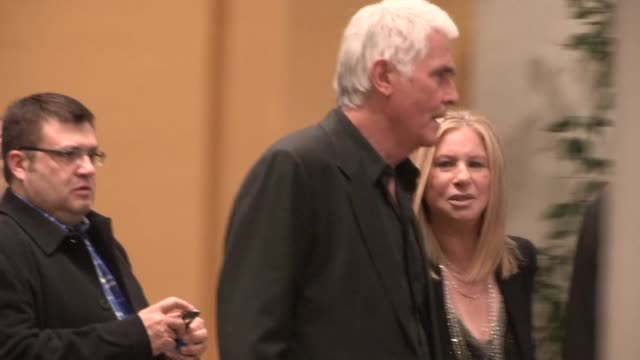 barbra streisand & james brolin depart the guilt trip premiere in westwood, 12/11/12 - james brolin stock videos & royalty-free footage
