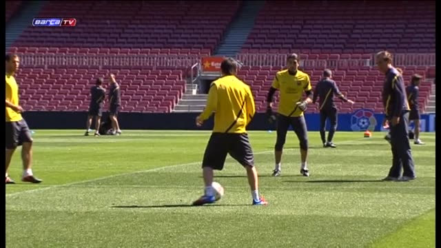 barcelona 02 may barcelona players worked out on wednesday during a training session in which they concentrated on another milestone breaking the... - record breaking stock videos & royalty-free footage