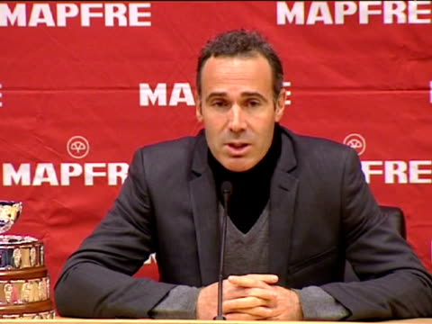 barcelona, 28 dec .- the new captain of spain's davis cup team, alex corretja, told a press conference today that coaching the national squad had... - davis cup stock videos & royalty-free footage
