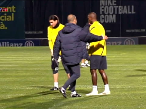 Barcelona 29 Dec FC Barcelona returned to action on Thursday holding their first training session following the weeklong holiday break Pep...