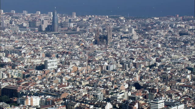 Barcelona  - Aerial View - Catalonia, Barcelona, Spain