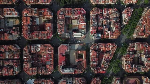barcelona aerial view - スペイン バルセロナ点の映像素材/bロール