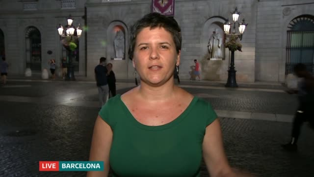 barcelona and cambrils attacks: tributes to victims; england: london: gir: int gala pin 2 way interview from barcelona sot - cambrils stock videos & royalty-free footage