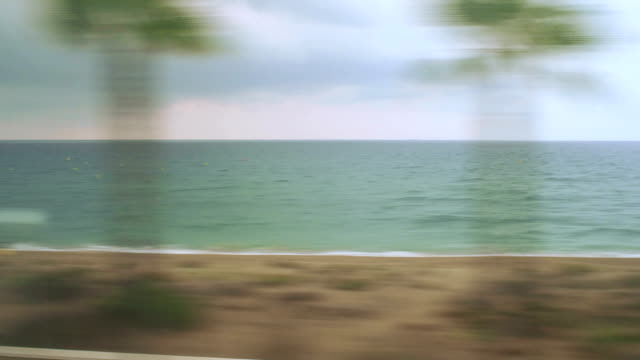 Barcelona Beaches Passenger Train View, Spain