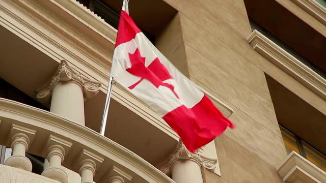 Barcelona catalonia Canadian Flag