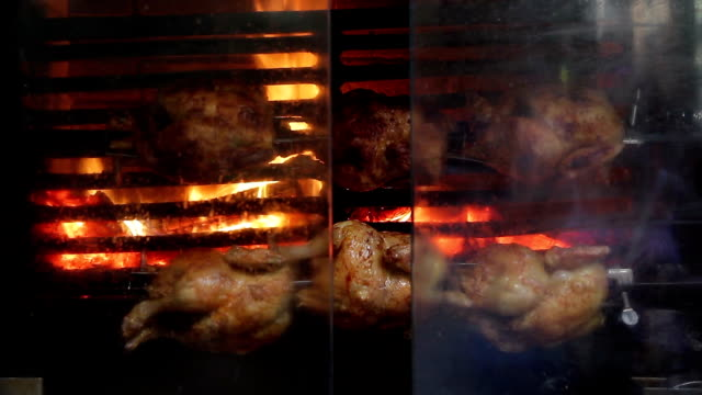Barcelona catalonia chicken spit roasted