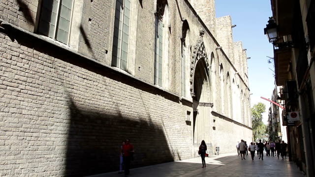 バルセロナ カタロニア サンタ ・ マリア ・ デル ・ マルします。 - ゴシック地区点の映像素材/bロール