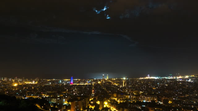 Barcelona city time lapse