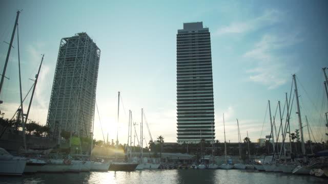Barcelona coast from a boat