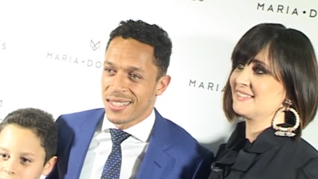 barcelona football player xxxxxxx attends the new jewelry opening of adriano's wife, manuelli mendes - sportlerin stock-videos und b-roll-filmmaterial