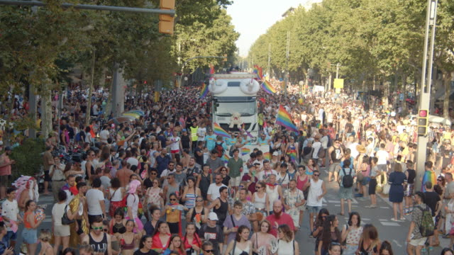 barcelona gay pride parade - pride stock videos & royalty-free footage