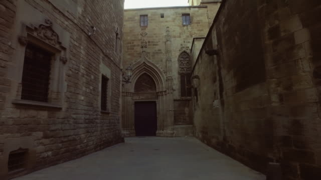barcelona: in barrio gotico - gothic quarter barcelona stock videos and b-roll footage