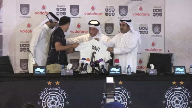 Barcelona legend Xavi Hernandez was officially unveiled by Al Sadd on Thursday and said he was proud to now be playing for the Qatari side