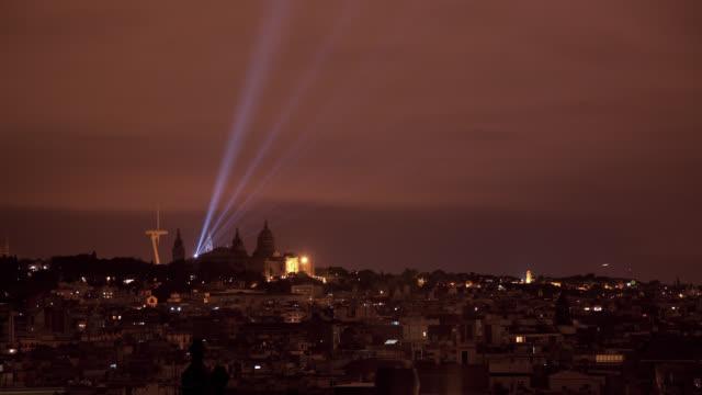 W/S Barcelona, MNAC, Montjuic and Calatrava tower, night