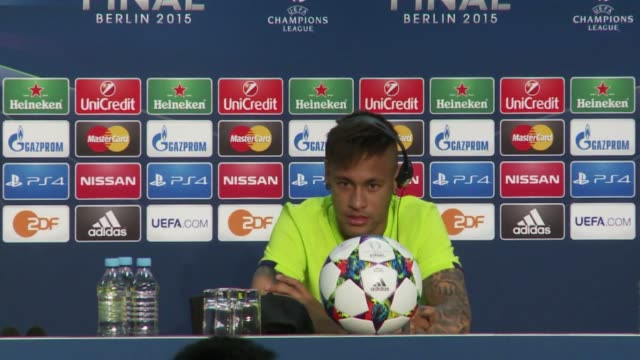 barcelona star neymar says playing saturday's champions league final will fulfil a childhood dream - neymar da silva stock-videos und b-roll-filmmaterial