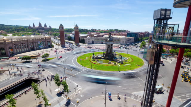 Barcelona Timelapse - Spain Square
