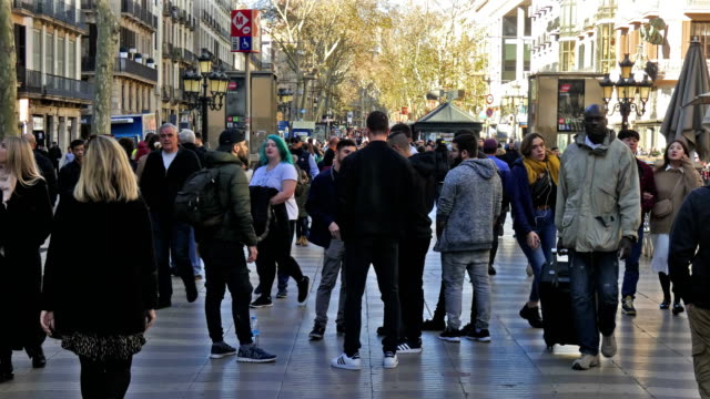 barcelona - fast motion stock videos & royalty-free footage
