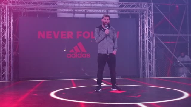 barcelona's argentinian forward lionel 'leo' messi attends the presentation of the new messi 16 boots by adidas on november 24 2016 in barcelona spain - lionel messi stock videos and b-roll footage
