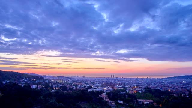 Barcelona's sunrise from Vallvidrera