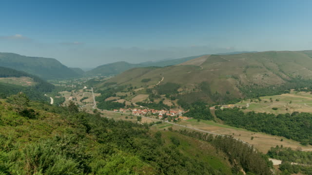 Barcenillas Town in the Cabuerniga Valley, Santander, Cantabria - Time lapse