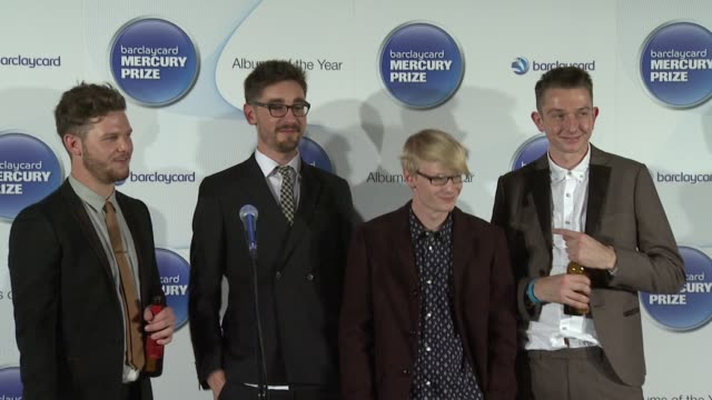 barclaycard mercury music prize 2012 at the roundhouse on november 01, 2012 in london, england - mercury music prize stock-videos und b-roll-filmmaterial