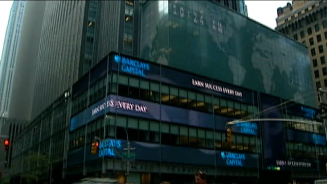 barclays rate fixing scandal: barclays chief executive resigns; t24080951 usa: new york: general views of barclays bank hq building barclays bank... - one way stock videos & royalty-free footage
