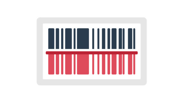 barcode glitch effect icon animation with alpha - sale stock videos & royalty-free footage