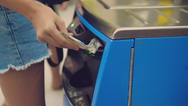 Barcode scanner at shopping cash register